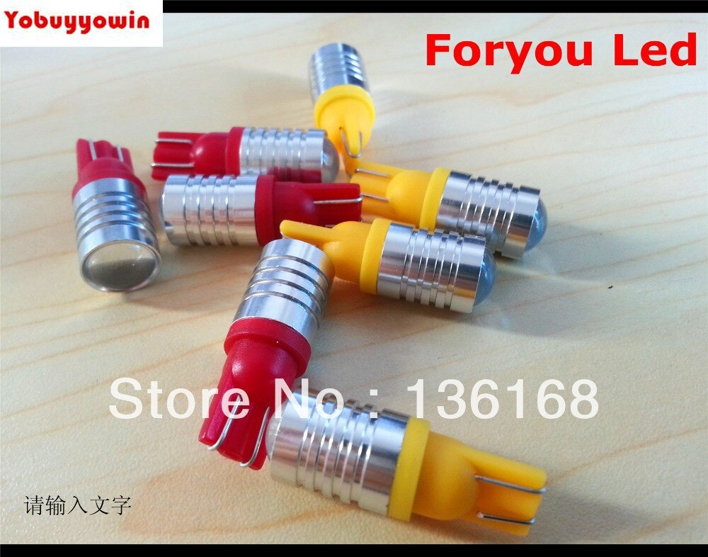 Envío gratis 4 piezas BOMBILLAS LED CREE Chips Led 5W T10 W5W CANBUS CON LENTE BLANCO PURO ULTIMA GENERACION
