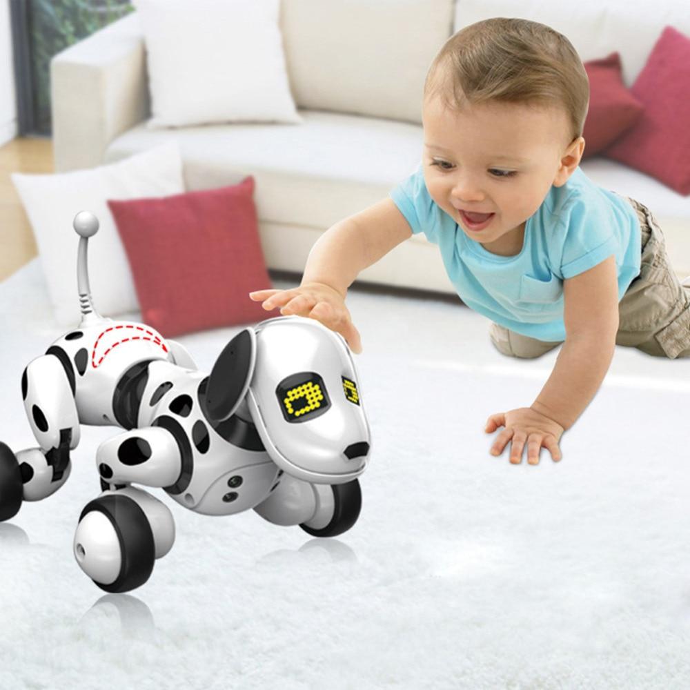 2,4G Perro inteligente de Control remoto inalámbrico electrónico para mascotas juguete educativo para niños Perro robot de baile sin caja regalo de cumpleaños