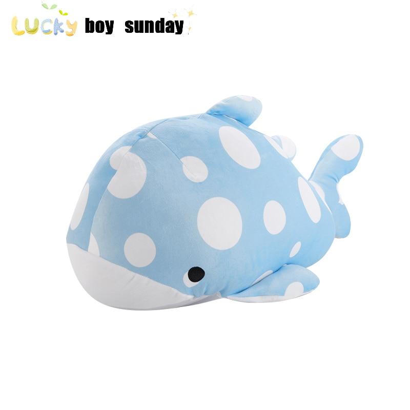 Lucky Boy Sunday 55CM Sea Animals Plush Toy Soft Shark Whale Dolphin Stuffefd Plush Pillow Doll Kids Children Toys Birthday Gift
