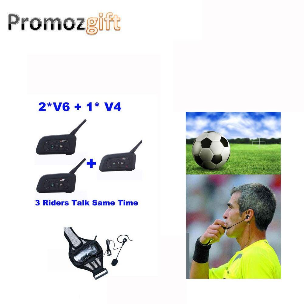 1 * V4 + 2 * V6 1200M 3 الحكام نقاش نفس الوقت ل كرة القدم الحكم مدرب Judger Arbitro المرجع-بالاتصالات سماعة