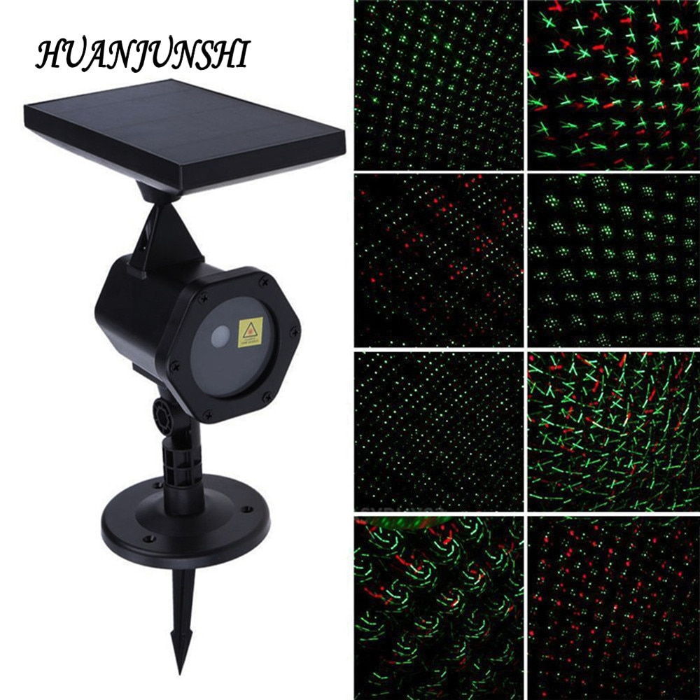 Christmas Laser Projector Sky Star Stage Spotlight Showers IP65 Outdoor Solar Panel Landscape Garden Lawn Light Projector Lamp