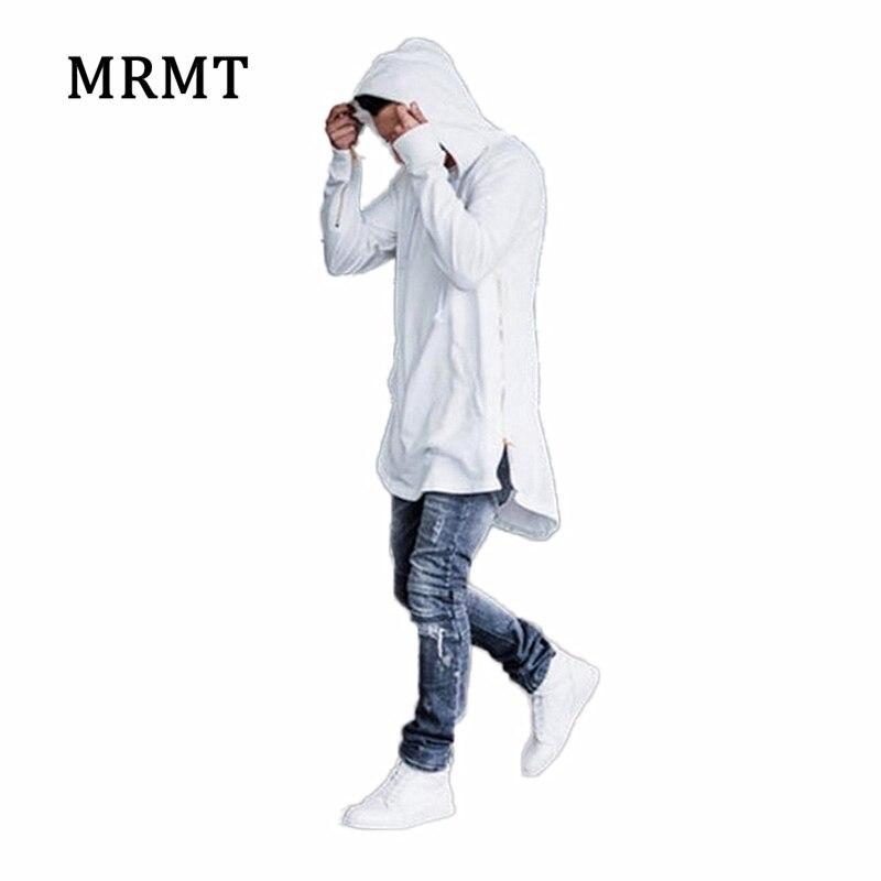 2019 nova marca de roupas dos homens hoodies sweatshirts high street longo zíper moletom corte prolongado com capuz camisas masculinas