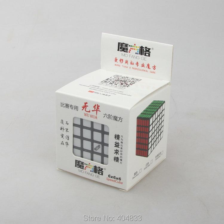 Qiyi Mofangge 6 * 6r Wuhua negro cubo mágico juguetes educativos Xmas idea de regalo