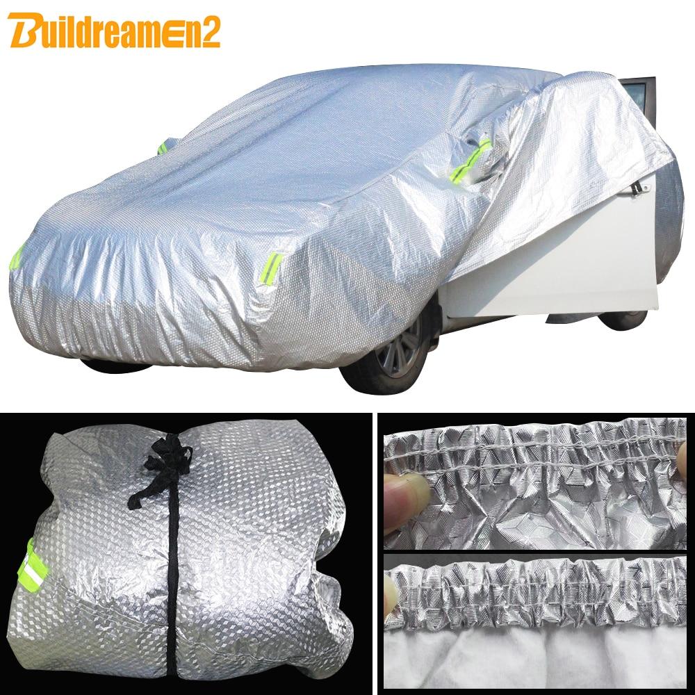 Buildremen2 Fiat 500 için Perla Punto Marea Palio Brava Ottimo Viaggio Uno su geçirmez araba örtüsü güneş kar yağmur dolu önleyici kapak