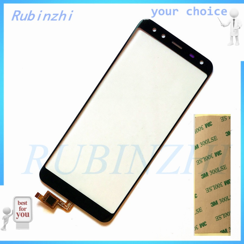 RUBINZHI con Sensor de pantalla táctil del teléfono móvil de cinta para Leagoo S8 Digitalizador de pantalla táctil piezas de panel táctil de vidrio frontal
