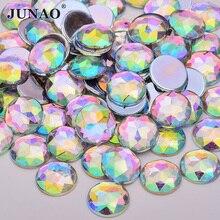 Strass AB transparents Non coudre   Grandes pierres rondes acryliques de 6 8 10 12 20 18 30 36 52mm avec Applique de Strass, cristaux plats, Strass en diamant