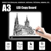 A3 מיני LED אור ציור איתור Tracer עותק לוח שלושה-רמת עמעום דיגיטלי לוח eye-ההגנה ציור כרית
