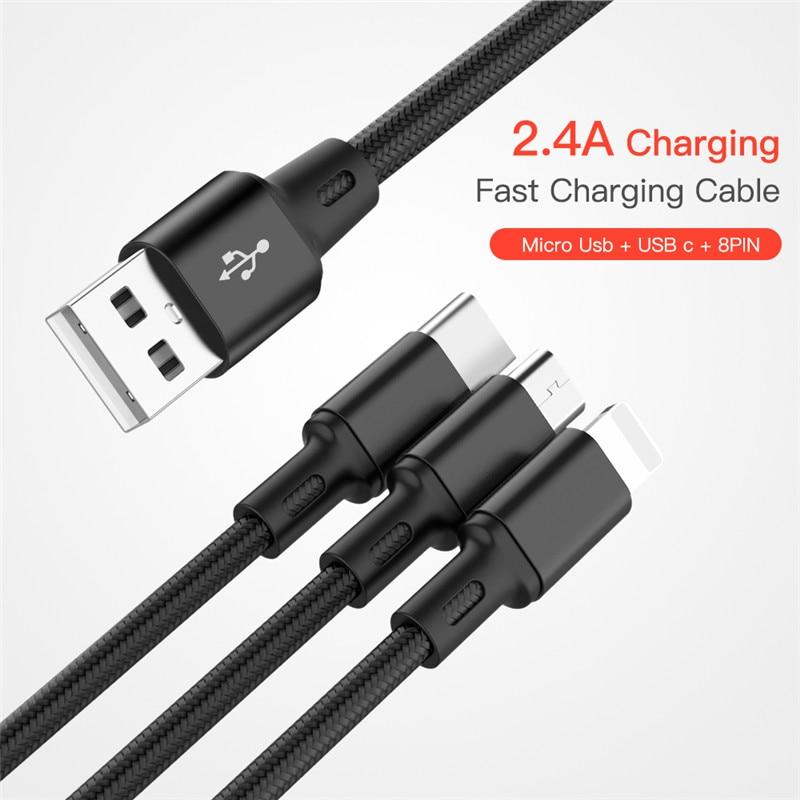 Cable USB Cable de carga del cargador de carga de Micro Cable USB Android para Global Vivaldi Picasso Nomi i506 i4510 a M i451 giro i5001 EVO M3