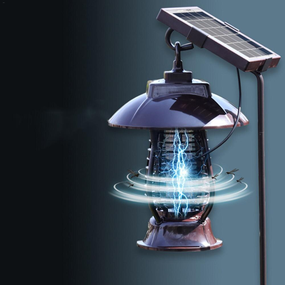 LAIDEYI Светодиодная лампа для отпугивателя комаров на солнечных батареях, лампа для уничтожения насекомых, Подвесная лампа для сада и двора н...