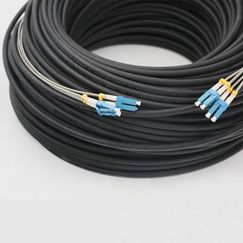 CPRI 100mtr Ao Ar Livre De Fibra óptica LC Patch cord FC SC ST 4 núcleos SM drop FTTH patch cabo Monomodo ALCA jumper fibras 4 ELINK