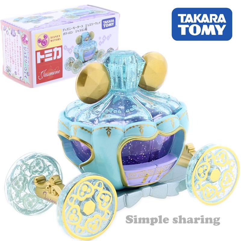Takara-tomy Tomica pixeles joyería de princesa jasmine coche de juguete Diecast transparente maqueta de carroza muñeca americana