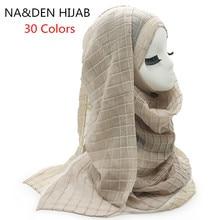 Écharpe élastique unie et plissée   Écharpe élastique, écharpe mode femmes enfants, foulards solides en relief, hijabs de mode, 30 couleurs, nouvelle collection