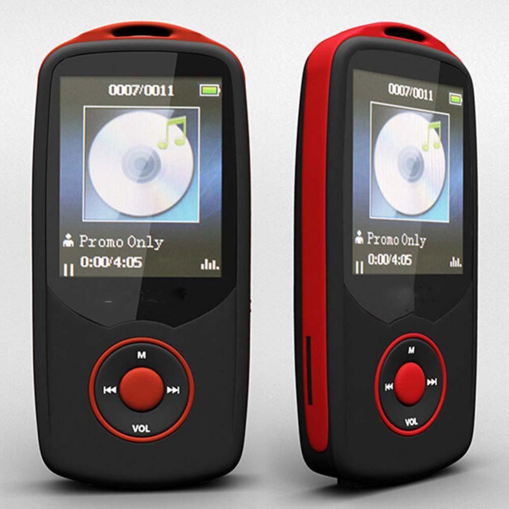 """RUIZU-reproductor MP3 TFT, 1,8 """", compatible con tarjeta TF, 4G de almacenamiento, 100 horas de Radio FM incorporada, E-Book"""
