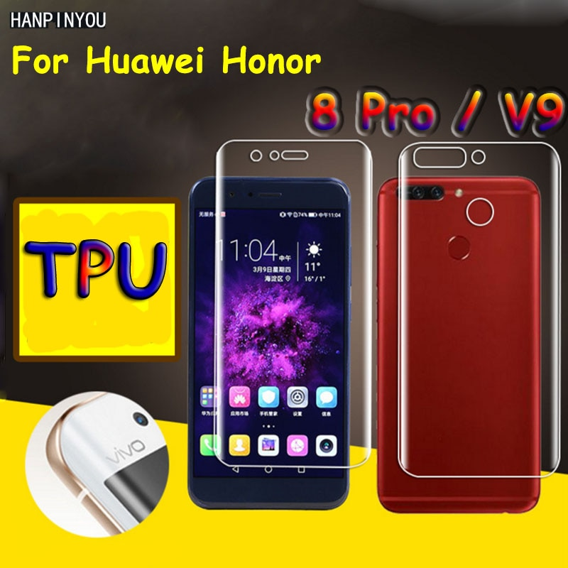 Front / Back Full Coverage Clear Soft TPU Film Screen Protector For Huawei Honor 8 Pro / V9 Cover Cu