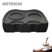 Areyoucan Espresso Double Coffee Tamper Mat Silicone Rubber Tampering Corner Mat Espresso Coffee Maker