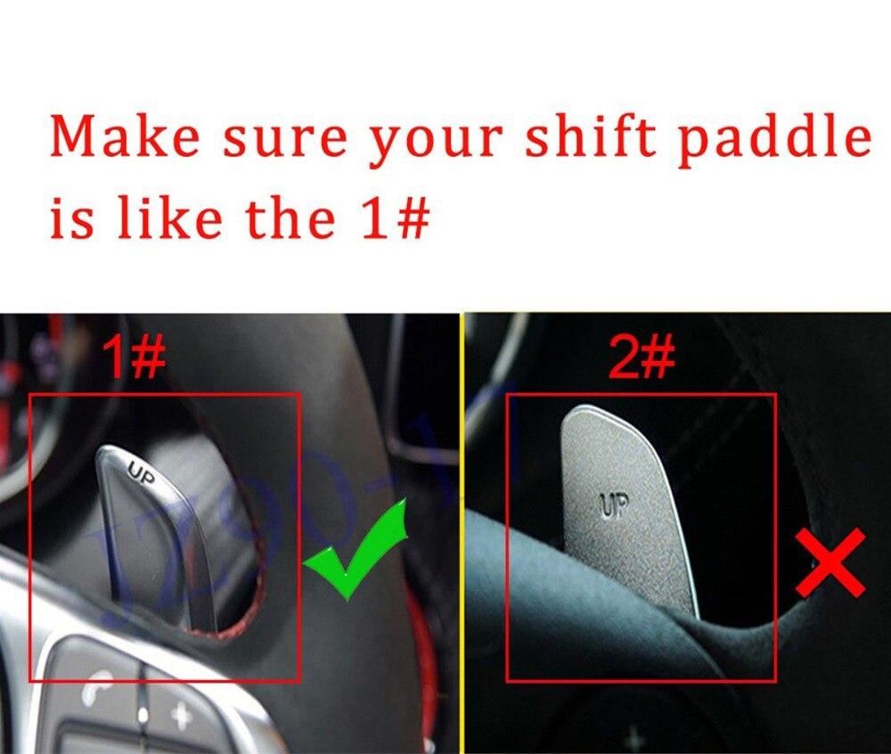 Extensão Pá Volante do Deslocamento de Engrenagem Tampa Apto Para Benz AMG A45 C63 E63 S65 CLA45 CLS63 GLA45 GLS63 GLC SL63 Acessórios