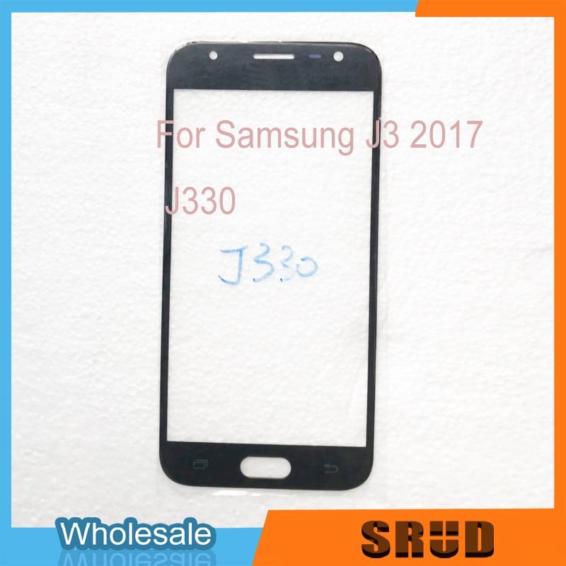 Para Samsung Galaxy J3 2017 J330 J330F cristal exterior frontal LCD con laminado OCA