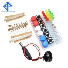 Smart Electronics Starter Kit For arduino uno r3 mini Breadboard LED jumper wire button