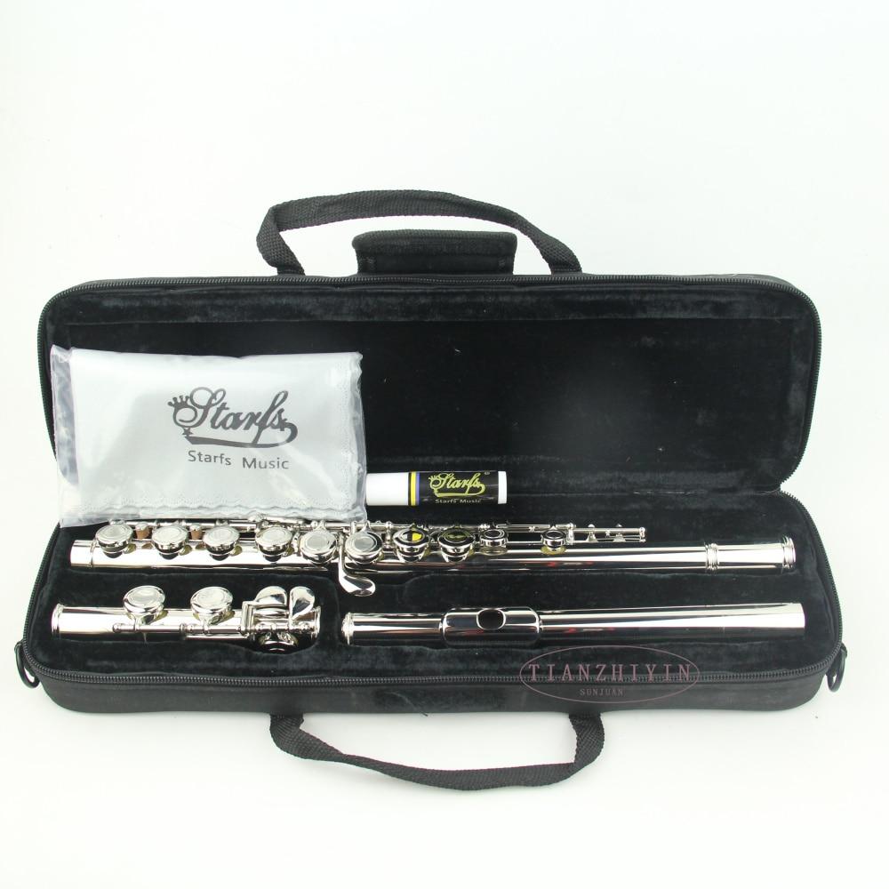 1 pçs niquelado furo fechado ckey flauta
