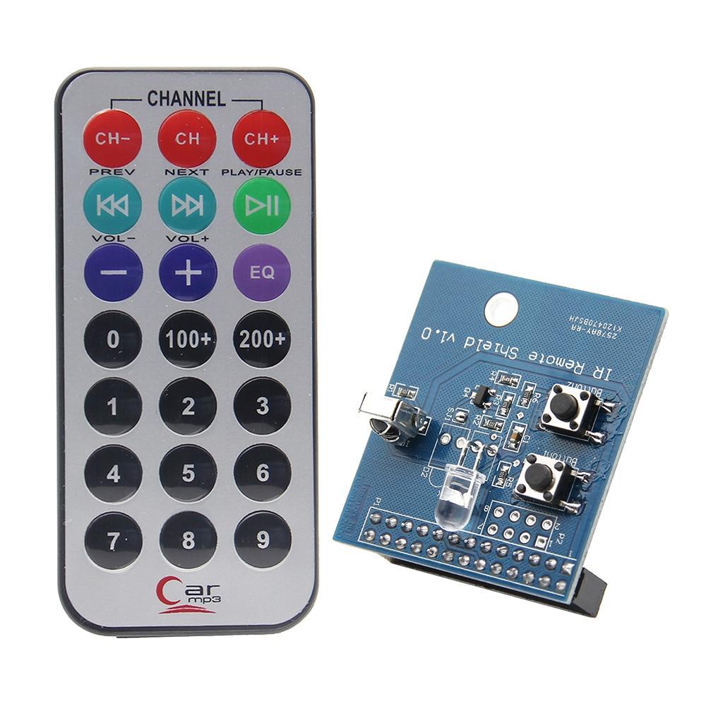 Raspberry pi 3 ir infravermelho receptor & transmissor placa de expansão com controle remoto ir kit para raspberry pi 3 modelo b, 2b, b +