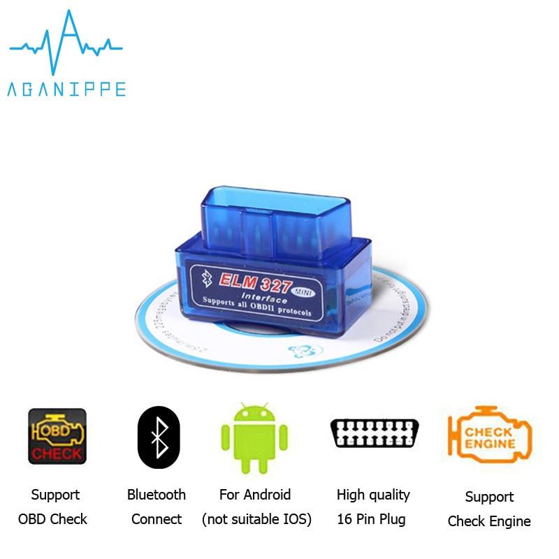 ELM 327 Mini bluetooth V2.1 OBD2 ELM327 Scan Tool Eml327 Car Diagnostic Tool OBDII Scanner Diagnostic-Tool OBD 2 Adapter