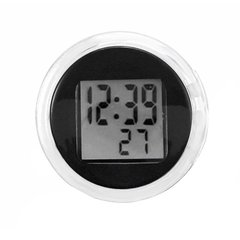 Nuevos relojes digitales universales para motocicleta reloj impermeable Mini Stick-On montura para motocicleta con cronómetro