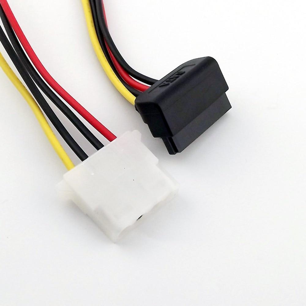 10x IDE 4 Pin Female Molex to SATA 15 Pin Female 90 градусов прямоугольный HDD кабель адаптера питания 20 см