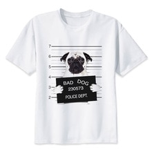 T-shirts drôles animal chien carlin chat t-shirt hommes haut court t-shirts hommes drôle Hachiko français Bulldog mâle t-shirts
