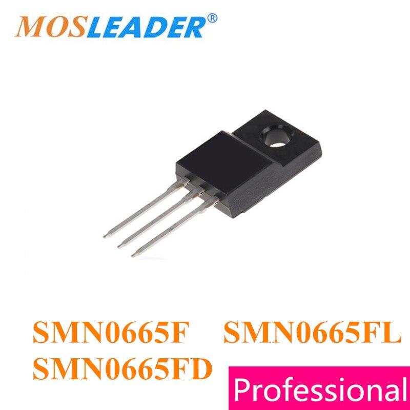 Mosleader 50 piezas TO220F SMN0665F SMN0665FL SMN0665FD, Canal N, 650 V 5.5A de alta calidad Mosfets