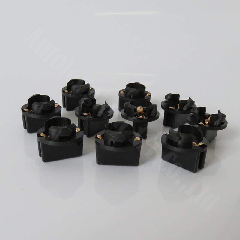 "WLJH T10 1/2 ""Universal Contacto doble Panel conjunto de luces hembra 501, 168, 194, 2825 T10 W5W giro cuña de bloqueo Bases 10x"