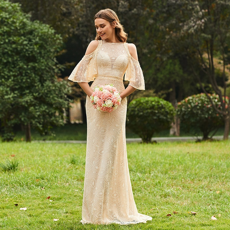 beauty emily a line lace red bridesmaid dresses 2019 long for women wedding party prom women dresses Tanpell champagne bridesmaid dress lace half sleeves floor length a line gown women wedding party long custom bridesmaid dresses