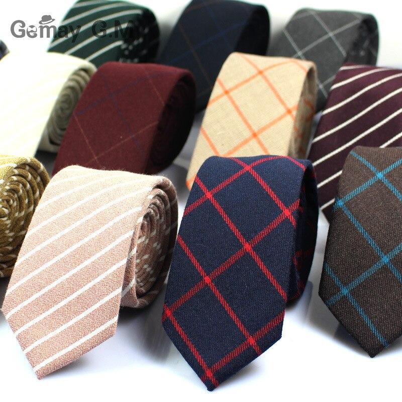 Classic Cotton Mens Ties New Design Narrow Neckties 6cm Slim Plaid Ties for Men Formal Business Wedding Party Gravatas недорого