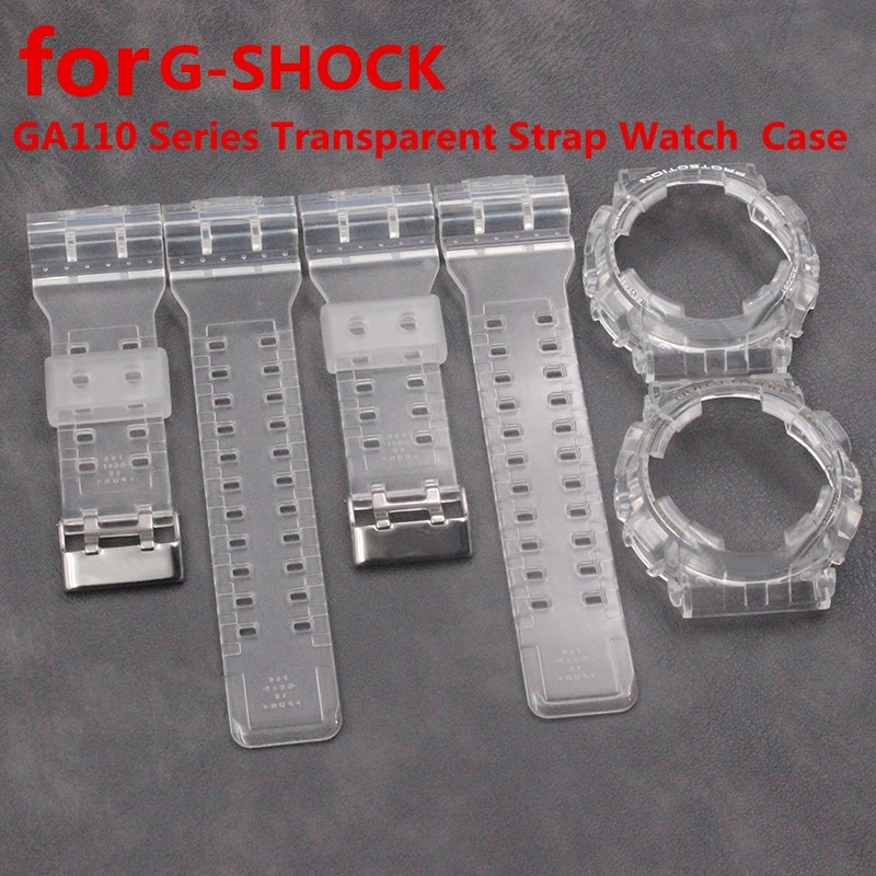 Uhr zubehör transparent harz strap fall für Casio GA110 serie GA-110 100 120 GD120 GA-100C männer und frauen uhr gürtel