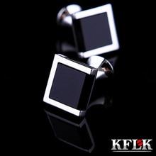 2020 KFLK 럭셔리 핫 셔츠 커프스 단추 남성 브랜드 커프스 bouton de manchette 블랙 커프스 링크 고품질 abotoaduras Jewelry