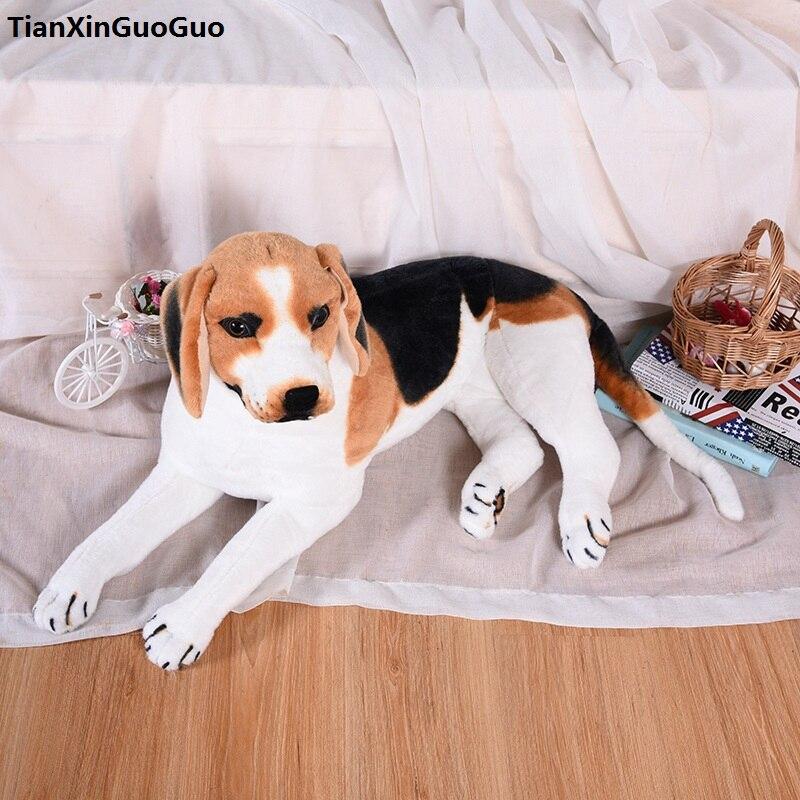 """Große 58 cm liegen beagle hund plüschtier sounds rinde """"hund weiche puppe throwkissen geburtstagsgeschenk s0427"""