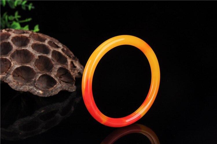 Xinjiang Hetian jade chicken blood red bracelet color jade gold silk jade bracelet qb10#