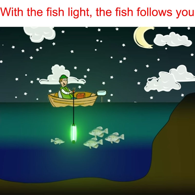 140W Deep Drop Underwater Lure Bait Fish Finder Lamp  Fully Submersible Night Fishing Light  with for Krill Phytoplankton Squid enlarge