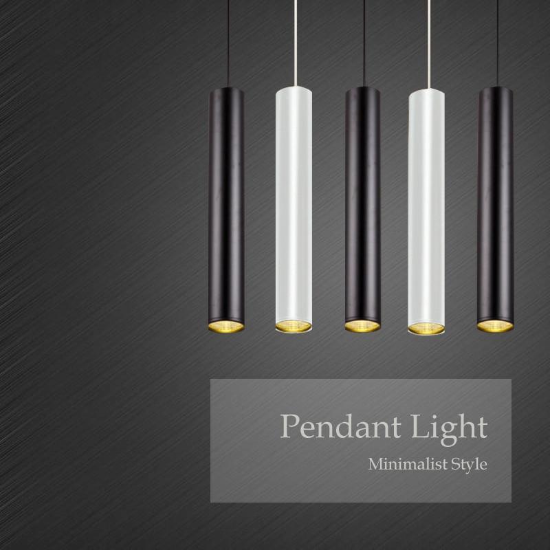 7 واط قلادة LED ضوء 300 مللي متر طويل COB سطح شنت اسطوانة النازل النقي/الدافئة الأبيض جديد