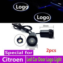 2 sztuk LED samochodów oświetlenie drzwi projektor do logo dla Citroen C3 C4 C4L C5 C6 XSARA PICASSO akcesoria lampa projektora laserowego