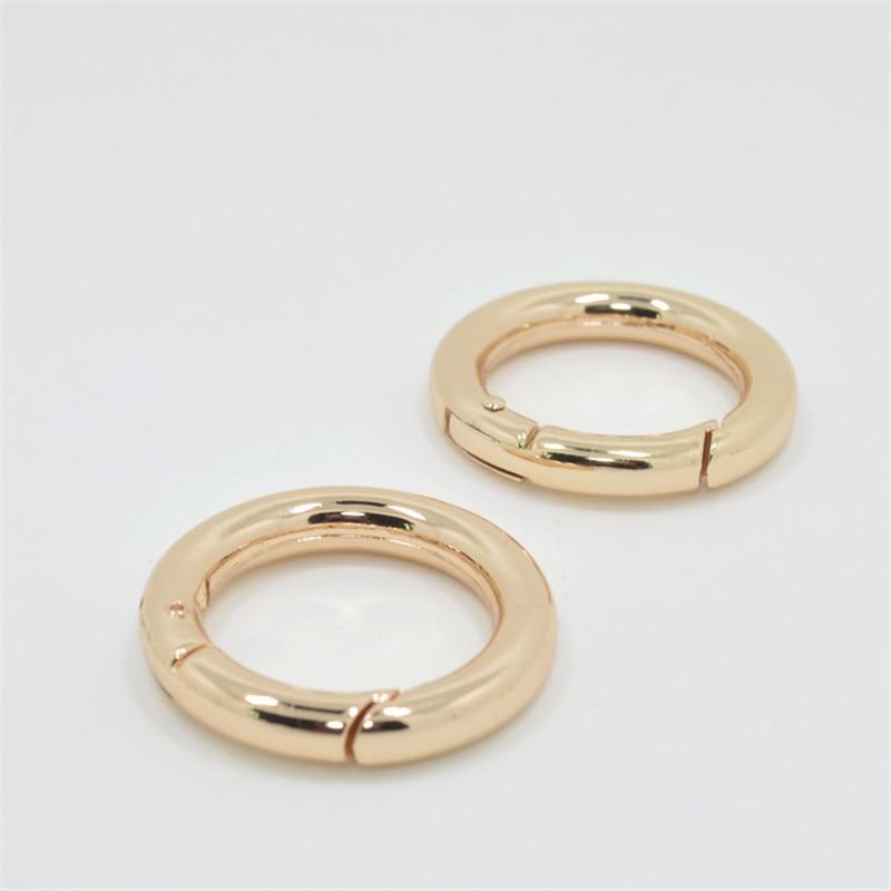 Fashion Zinc Alloy Round Clasp Key Ring For Men Bag Car Charms Trinket Keyring For DIY Jewelry Makin