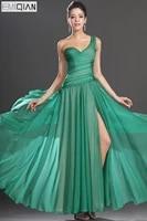 free shipping new gorgeous single shoulder chiffon evening dress