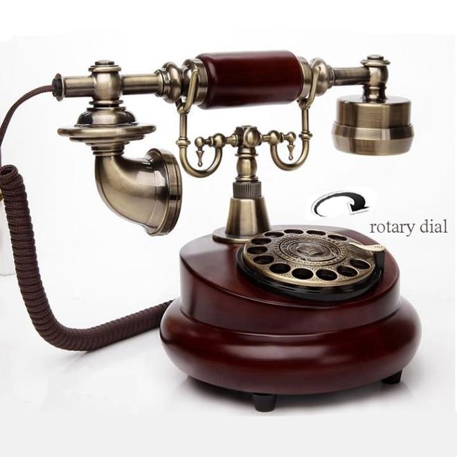 European Vintage Telephone Swivel Plate Rotary Dial rotate Antique Landline Phone Office Home Hotel telefono fijo telefono casa