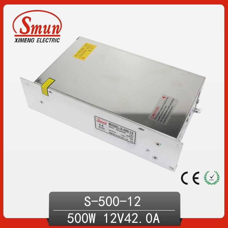 500 W 12VDC 40A fuente de alimentación de conmutación de salida única con CE ROHS China fábrica para luz