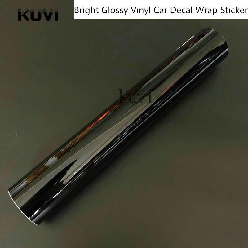 10 Uds vinilo negro lustroso película Piano coche barco camiones computadora teléfono envoltura brillante adhesivo burbujas de aire libre hoja de embalaje de coche