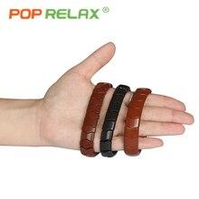 POP RELAX Korea tourmaline germanium bracelet body negative anion balance fashion healthy powerful stone bracelet for men women
