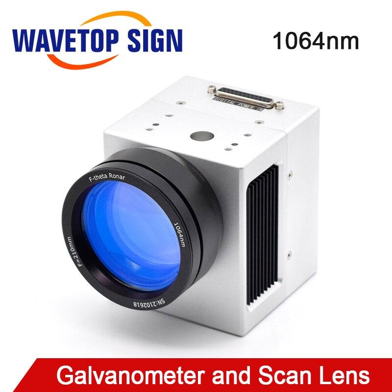 WaveTopSign 1064nm Digital fibra láser galvanómetro escáner ScanBoxPS3D10 + lente de escaneo OPEX para máquina de grabado láser