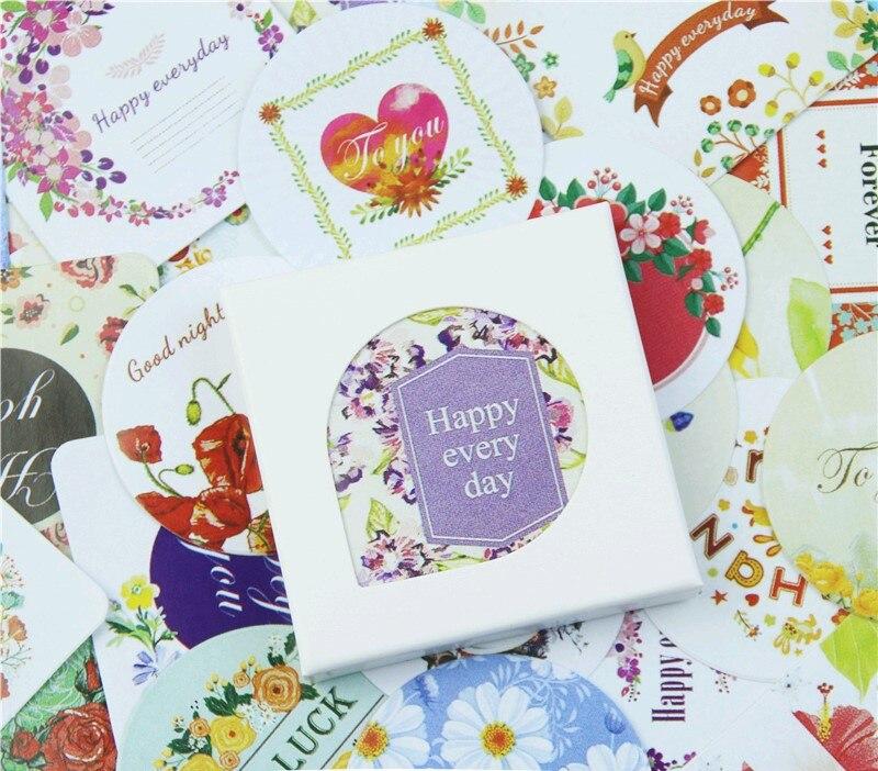 38 unidades/pacote flores língua mini etiqueta de papel adesivos diy diário álbum vara decoração lote