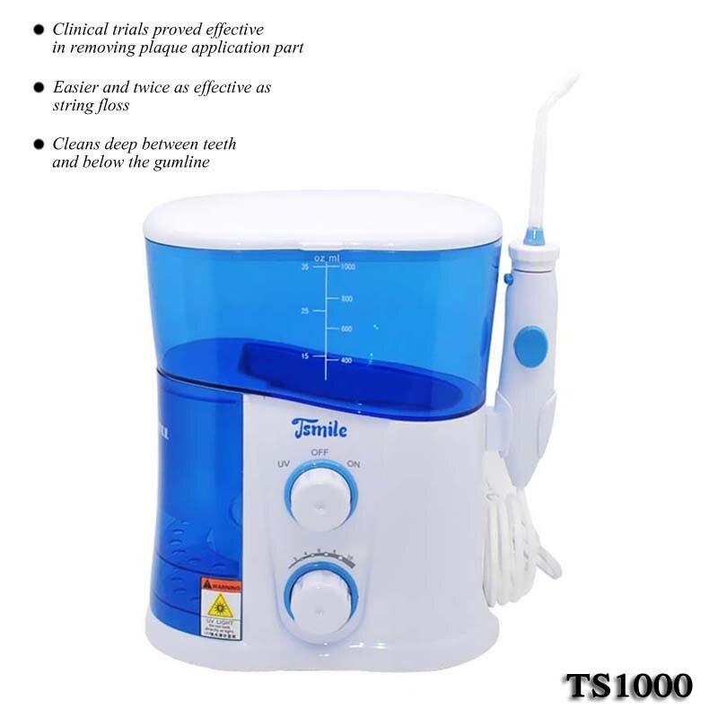 Dental flosser água/recarregável oral irrigador dental/dental water jet TS1000