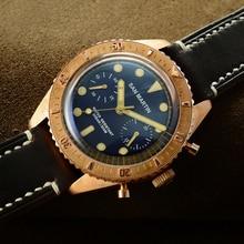 San Martin Sixty-Five Bronze Automatic Diving Watch Swiss ETA7753 Chronograph watch 200MWater Resistant Retro Antique Wristwatch