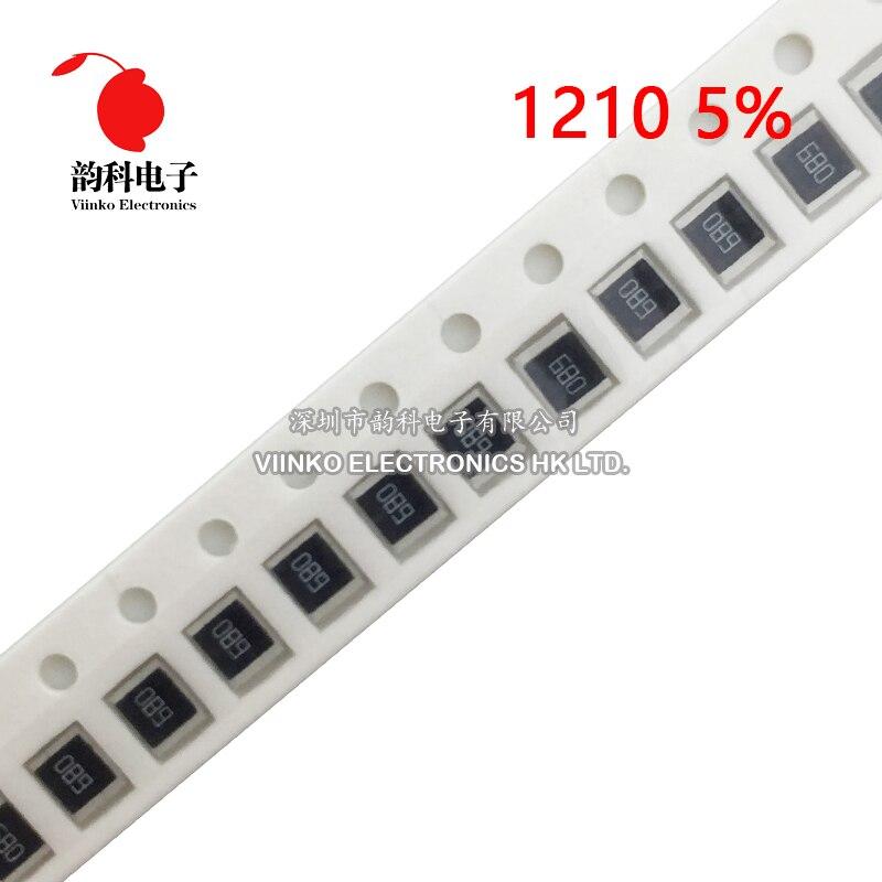 100 pièces 1210 5% SMD résistance 1/2W 2.7R 3R 3.3R 3.6R 3.9R 4.3R 4.7R 5.1R 5.6R 6.2R 2.7 3 3.3 3.6 3.9 4.3 4.7 5.1 5.6 6.2 ohm